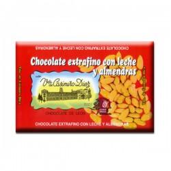 Chocolate extrafino con leche y almendras 200gr. | Viuda de Casimiro Diez Dulces